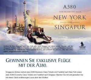 Singapore Airlines Gewinnspiel